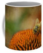 Honey Bee On Flower Coffee Mug by Dan Friend