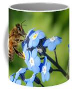 Honey Bee On Forget-me-not Flowers Coffee Mug