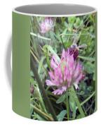 Honeybee Enjoying The Wild Purple Clover Coffee Mug