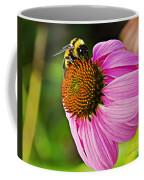 Honeybee On Echinacea Flower Coffee Mug