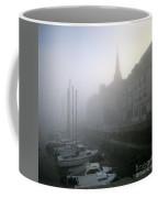 Honfleur Harbour In Fog. Calvados. Normandy. France. Europe Coffee Mug