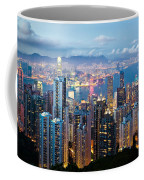 Hong Kong At Dusk Coffee Mug