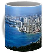 Honolulu And Waikiki From Diamond Head Coffee Mug