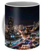 Honolulu Night Panorama Coffee Mug
