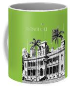 Honolulu Skyline Iolani Palace - Olive Coffee Mug