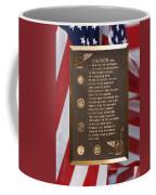 Honor The Veteran Signage With Flags 2 Panel Composite Digital Art Coffee Mug