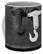 Hook Me Up Bw Coffee Mug by Susan Candelario