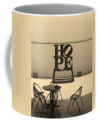 Hope And Chairs In Sepia Coffee Mug