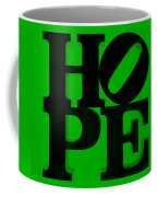 Hope In Green Coffee Mug