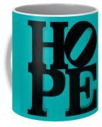 Hope In Light Blue Coffee Mug