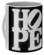 Hope Inverted Black Coffee Mug