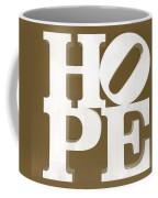 Hope Inverted Brown Coffee Mug