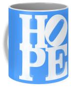Hope Inverted Light Blue Coffee Mug