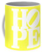 Hope Inverted Yellow Coffee Mug