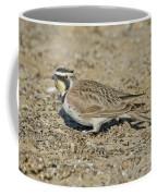 Horned Lark Feeding Coffee Mug