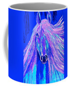 Horse Abstract Blue And Purple Coffee Mug
