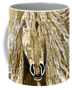 Horse Abstract Neutral Coffee Mug