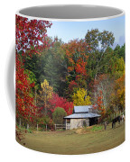Horse And Barn In The Fall 3 Coffee Mug