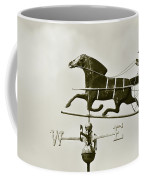 Horse And Buggy Weathervane In Sepia Coffee Mug