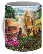 Horse And Cats Coffee Mug