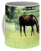 Horse And Flowers Coffee Mug