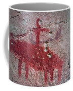 Horse And Rider Cave Painting Coffee Mug