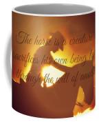 Horse And Rider Silhouette  Coffee Mug