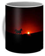 Horse And Sunset Coffee Mug