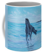 Horse At The Sea Coffee Mug