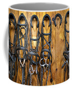Horse Bridles Hanging In Stable Coffee Mug