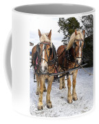 Horse Drawn Sleigh Coffee Mug by Edward Fielding