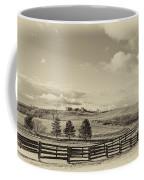 Horse Farm Sepia Coffee Mug