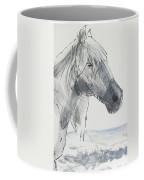 Horse Head Drawing Coffee Mug