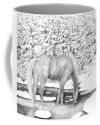 Horse In Snow Coffee Mug