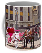 Horse Needs Water In Old Montreal-quebec-canada Coffee Mug