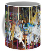 Horse On Carousel Coffee Mug