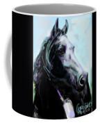Horse Painted Black Coffee Mug