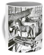 Horse Powered Stall Cleaner, 1880 Coffee Mug