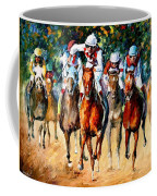 Horse Race - Palette Knife Oil Painting On Canvas By Leonid Afremov Coffee Mug