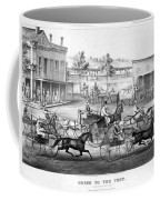 Horse Racing, C1869 Coffee Mug