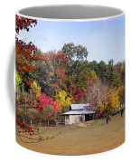 Horses And Barn In The Fall 2 Coffee Mug