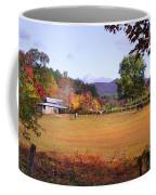 Horses And Barn In The Fall 4 Coffee Mug