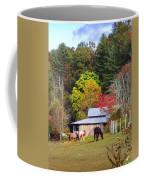 Horses And Barn In The Fall Coffee Mug