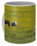 Horses And Wildflowers   #8511 Coffee Mug