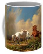 Horses Balking At Approaching Storm Coffee Mug