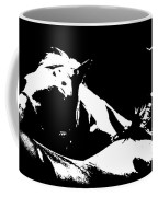 Horses - Black And White Coffee Mug