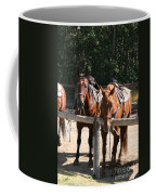 Horses Glacier National Park Montana Coffee Mug