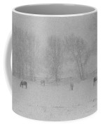 Horses In The Snow   #2547 Coffee Mug