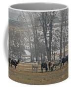 Horses In The Snow   #7940 Coffee Mug