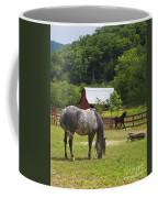 Horses On A Farm Coffee Mug